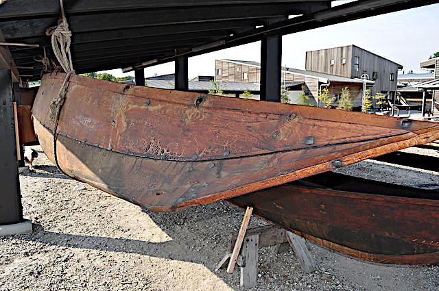 Rekonstruktionen set fra styrbord side.