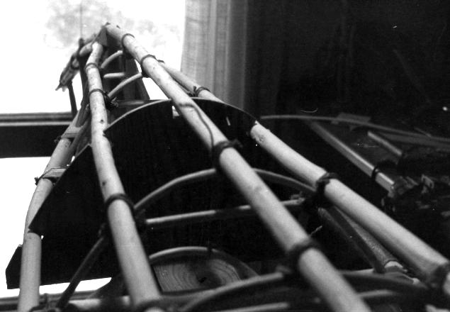 Rafterne under montage.