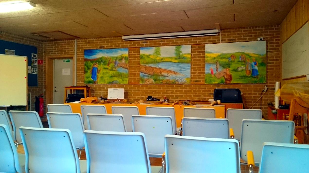 Møde- og foredragsområde.