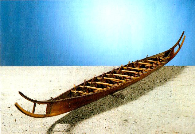 Rosenberg's model of the Hjortspring Boat.