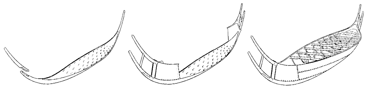 The components of the boat.