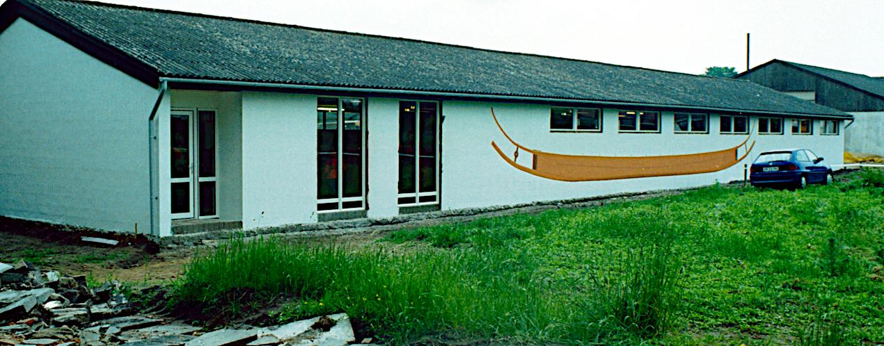 Lindeværftets nye facade.